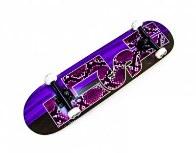Дерев'яний СкейтБорд Fish Skateboard Snake Skin з малюнком, з посиленою підвіскою