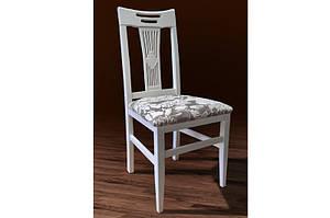"""Дерев'яний стілець жорстка спинка """"Юлія"""" (білий) Sonara cream 1A від Мікс Меблі"""