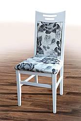 """Дерев'яний стілець """"Юлія"""" (білий) Хелена 1 від Мікс Меблі"""