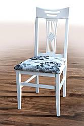 """Дерев'яний стілець """"Юлія"""" (білий) жорстка спинка (Хелена 1) від Мікс Меблі"""