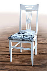"""Деревянный стул """"Юлия"""" (белый) жесткая спинка (Хелена 1) от Микс Мебель"""