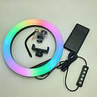 Кільцева світлодіодний RGB LED лампа MJ33 діаметром 33 см, 16 кольорів, фото 3