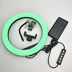 Кільцева світлодіодний RGB LED лампа MJ33 діаметром 33 см, 16 кольорів, фото 6