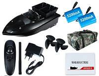 Кораблик для рыбалки с 2 бункерами + 2 аккумулятора + 3 подарка