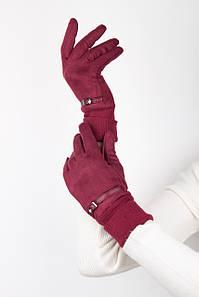 Перчатки FAMO Женские перчатки Вилена бордовые One size (42-46) (Bd 11) #L/A