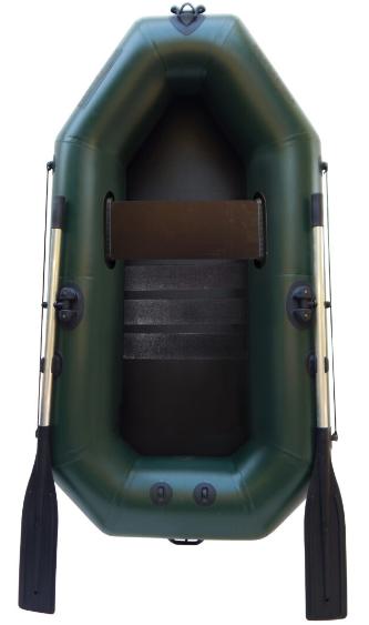Надувная лодка пвх Лисичанка f190cu одноместная с полом и уключинами