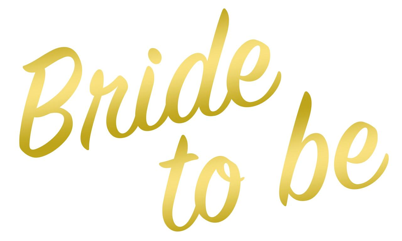 "Наклейка to be Bride(1) дзеркальне золото 25х15 см (18"")"
