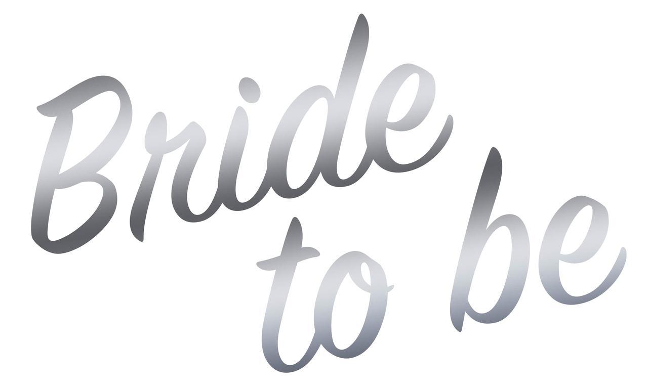 "Наклейка to be Bride(1) срібло 25х15 см (18"")"