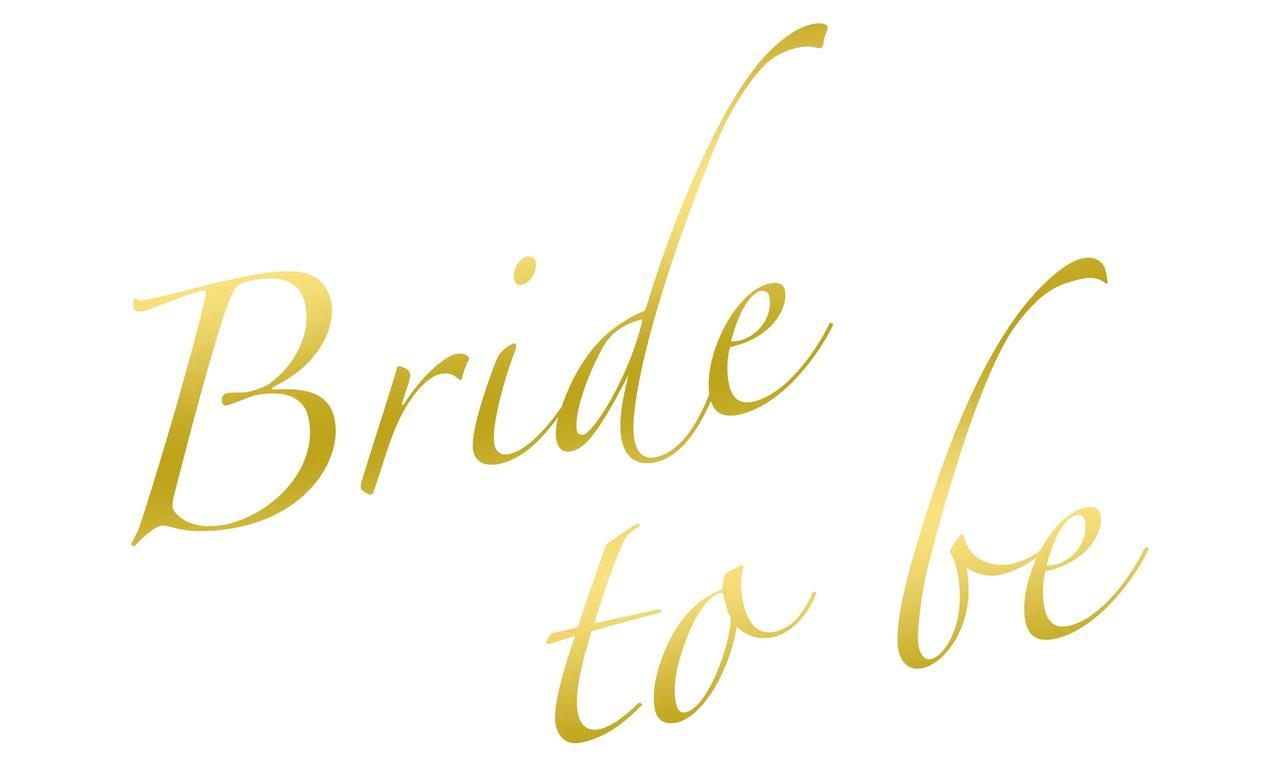 "Наклейка Bride to be(3) дзеркальне золото 25х15 см (18"")"