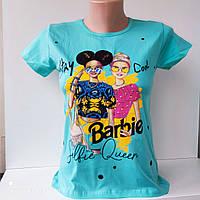"""Подростковая футболка для девочки """"GULNUR"""". Возраст 9-12 лет, фото 1"""