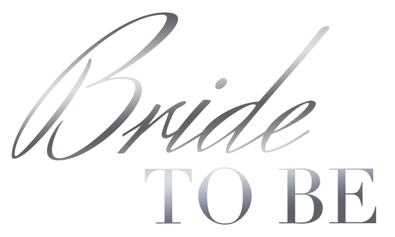 "Наклейка Bride to be(4) срібло 25х15 см (18"")"