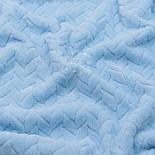 Лоскут плюшу косичка блакитного кольору, розмір 36*150 см, фото 3