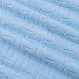 Лоскут плюшу косичка блакитного кольору, розмір 36*150 см, фото 4