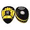 Боксерські лапи гнуті шкіра, жовті BOXER, фото 2