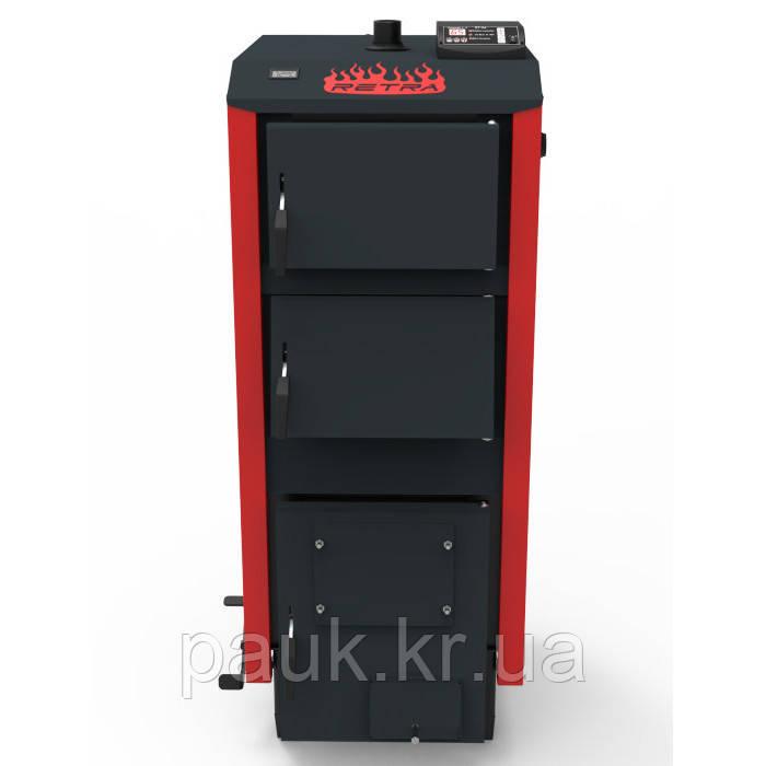 Твердотопливный котел 50 кВт Ретра-5М PLUS STANDART, котел с автоматикой, 5 мм