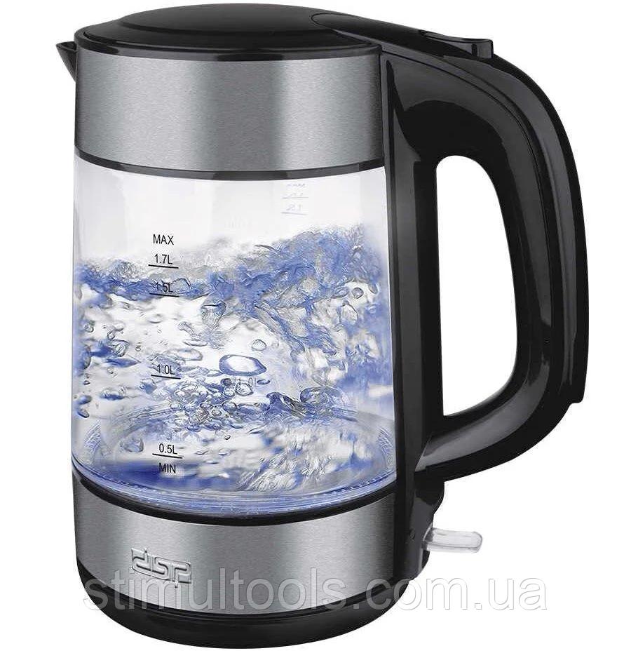 Чайник електричний скляний з підсвічуванням DSP KK1119