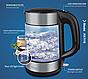 Чайник електричний скляний з підсвічуванням DSP KK1119, фото 3