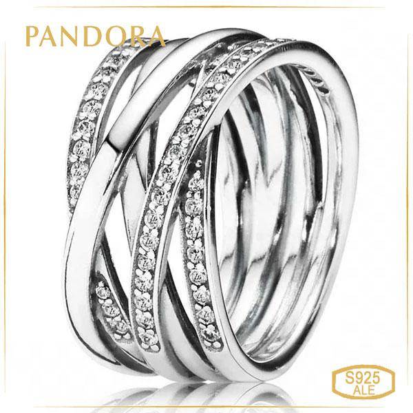 Пандора Кольцо Сплетение (54) Pandora 190919CZ