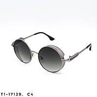 Солнцезащитные очки в стиле Стимпанк. Защита UV400. Цвет серый с градиентом