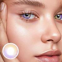 Цветные контактные линзы Коричневый + Сиреневый