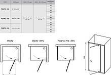 PDOP 2-100 white (Transparent) Душова двері, фото 2