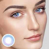 Цветные контактные линзы Фиолетовый + Голубой
