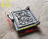 Сковорода чавунна гриль 40 см для барбекю, мангал, печі, фото 2