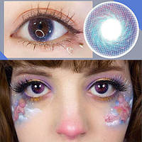 Цветные контактные линзы Розовый + Голубой