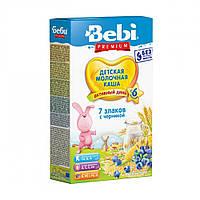 Молочная каша 7 злаков с черникой Bebi Premium, 200 г