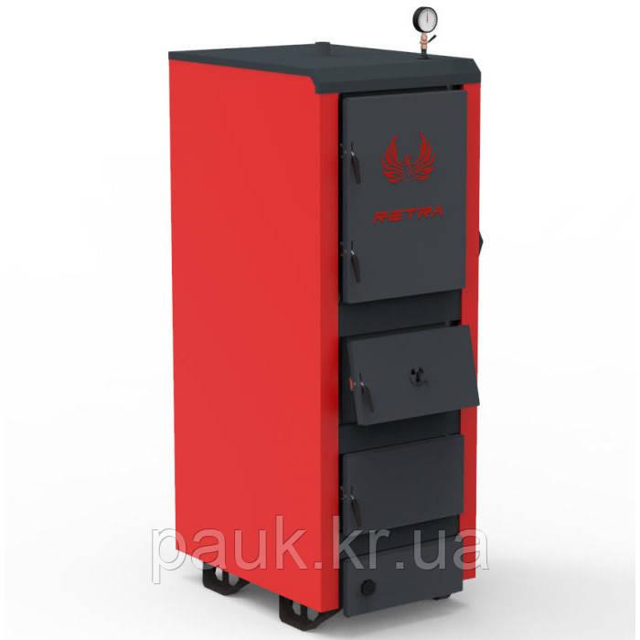 Твердотопливный котел 98 кВт Ретра-5М PLUS STANDART, котел с автоматикой, 6 мм