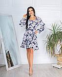 Жіноче плаття довгий рукав до колін супер софт принт велика квітка розмір: 42-44, 46-48, фото 5