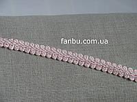 """Ажурная тесьма """"шанель-атласная"""" светло-розовая ,ширина 1.2см"""