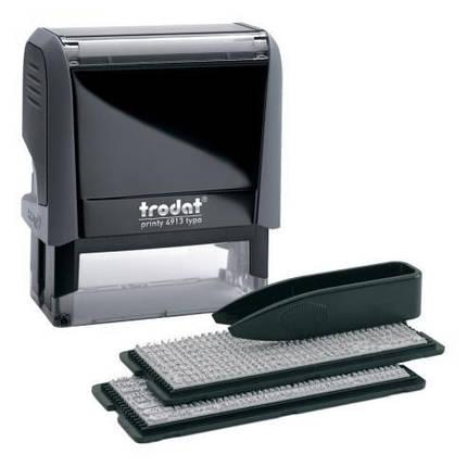 Самонабірний штамп Trodat 4913, 5-ти рядковий, 58x22 мм, фото 2