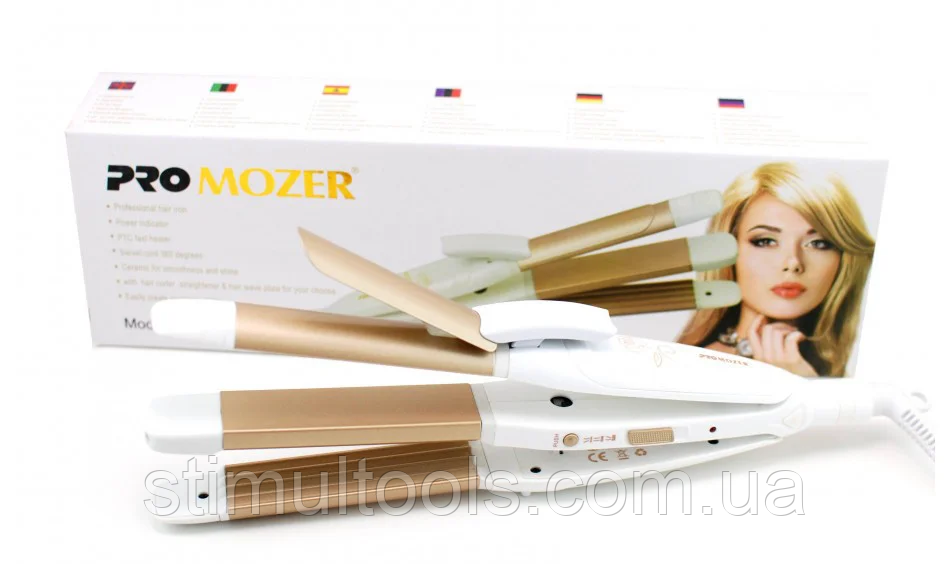 Стайлер Promozer MZ 7023 (плойка, гофре, випрямляч для волосся)