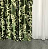 Готовый комплект штор блэкаут Шторы на тесьме Шторы 150x270 Качественные шторы Шторы цвет Зеленый, фото 2