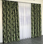 Готовый комплект штор блэкаут Шторы на тесьме Шторы 150x270 Качественные шторы Шторы цвет Зеленый, фото 5