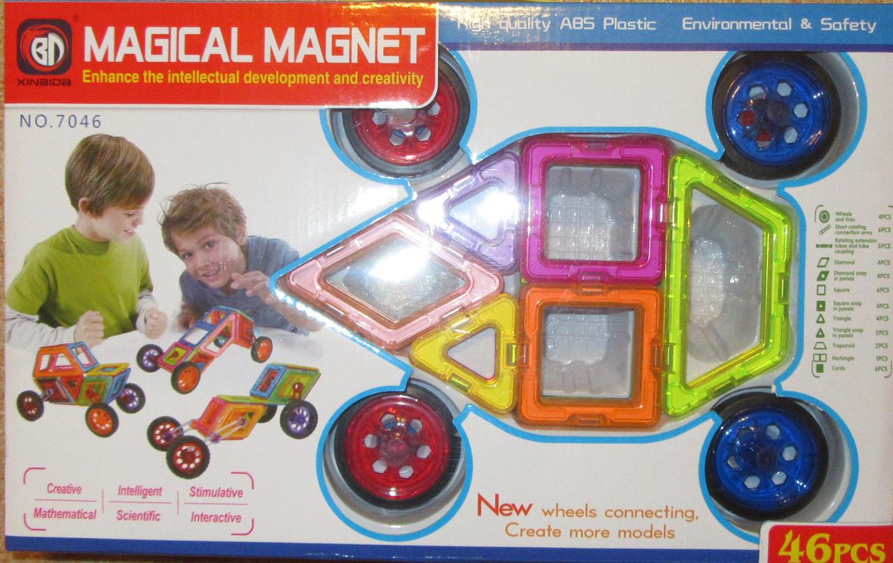 Конструктор магнітний 46 ел машинки