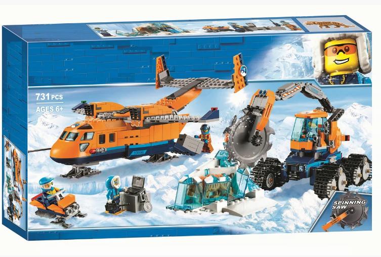 """Конструктор 10996 """"Арктичний вантажний літак"""" , 731 деталь"""
