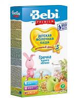 Сухая молочная каша Гречневая с курагой и яблоком Bebi Premium , 200 г