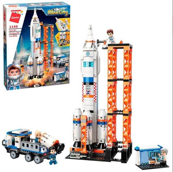 Конструктор Брик 1140 Космическая станция, Запуск шатла в Космос, 632 детали
