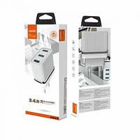 Блок питания 3 в 1 блочок Aspor A833 3.4 A USB сетевое зарядное устройство адаптер для зарядки СЗУ