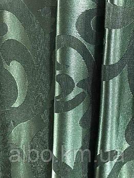 Жаккардова тканина в зеленому кольорі, висота 2,8 м ( С28-15)
