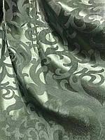 Жакардова тканина в зеленому кольорі, висота 2,8 м ( С28-15), фото 4