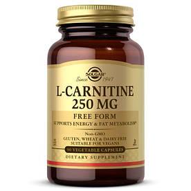 Жиросжигатель Solgar L-Carnitine 250 mg, 90 вегакапсул