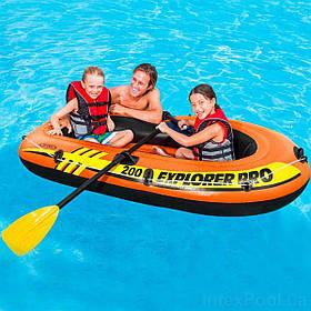 Полутораместная Надувная Лодка Intex 58357 EXPLORER, 196х102 см