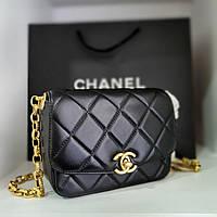 Женская брендовая кожаная сумка-реплика Chanel (Шанель)