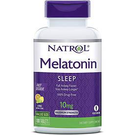 Відновник Natrol Melatonin 10mg Fast Dissolve, 100 таблеток Цитрус