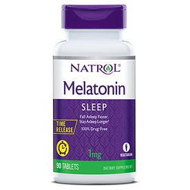 Відновник Natrol Melatonin 1mg Time Release, 90 таблеток