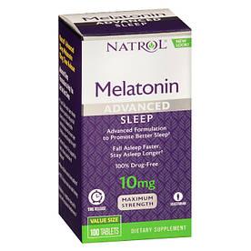 Восстановитель Natrol Melatonin 10mg Advanced Sleep, 100 таблеток
