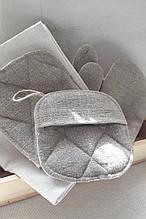 Набор кухонных прихваток, рукавичек и полотенец Лен